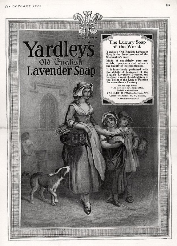 Yardley's Old English Lavender Soap advertising