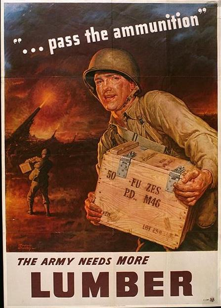 the Army needs more lumber Free army poster