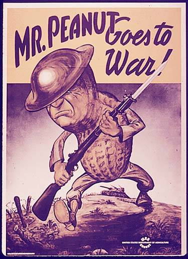World War II Poster: Mr. Peanut Goes to War