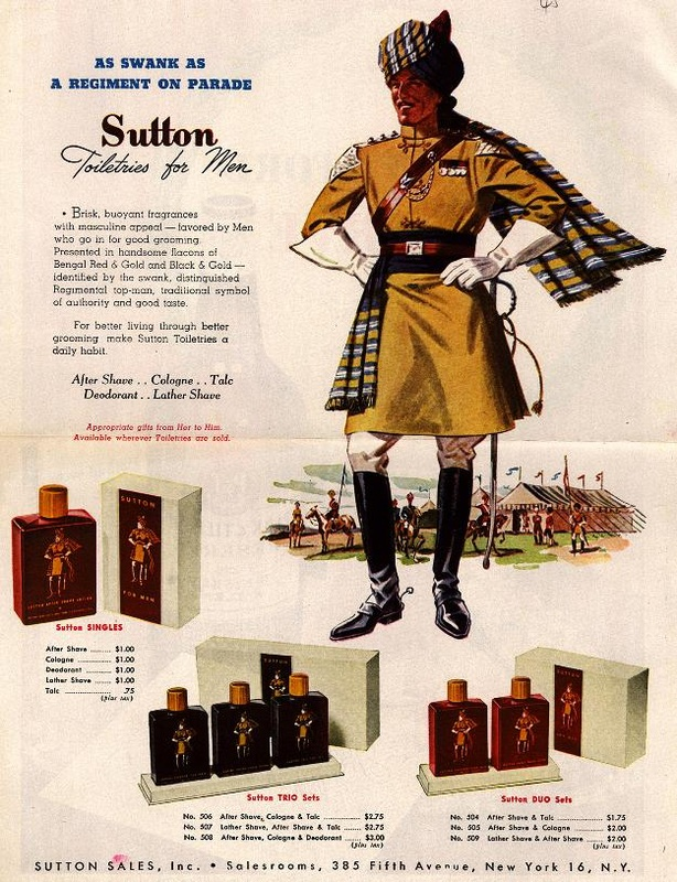 Sutton Toiletries for Men advertising