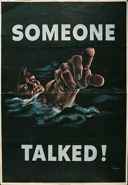 Someone talked! Public domain army poster