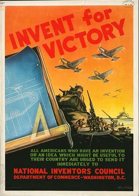 Invent for victory public domain war plans,tanks poster