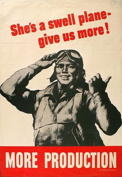 give us more! world war poster