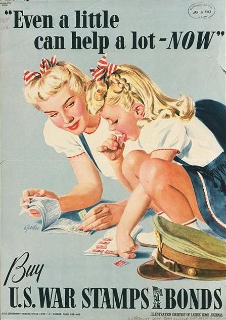 Even a little can help a lot-- now! Free public domain poster
