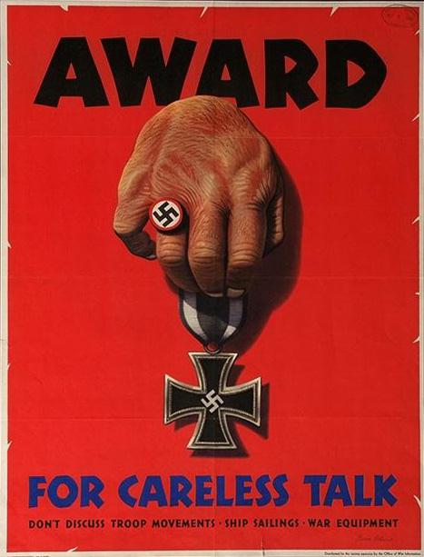 Award for careless talk Free progpanda poster